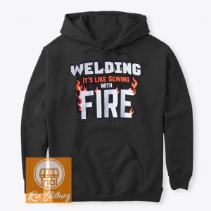 amazon welding Sewing with Fire hoodie