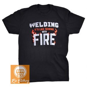 amazon welding Sewing with Fire tank t shirt