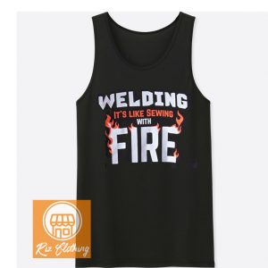 amazon welding Sewing with Fire tank top